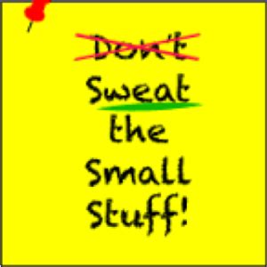 BUY THE BOOKS - Dont Sweat the small stuff