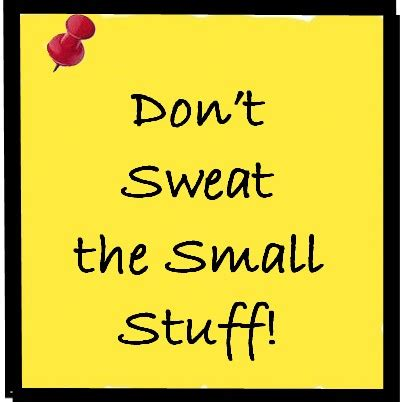 Don t sweat the small stuff book review
